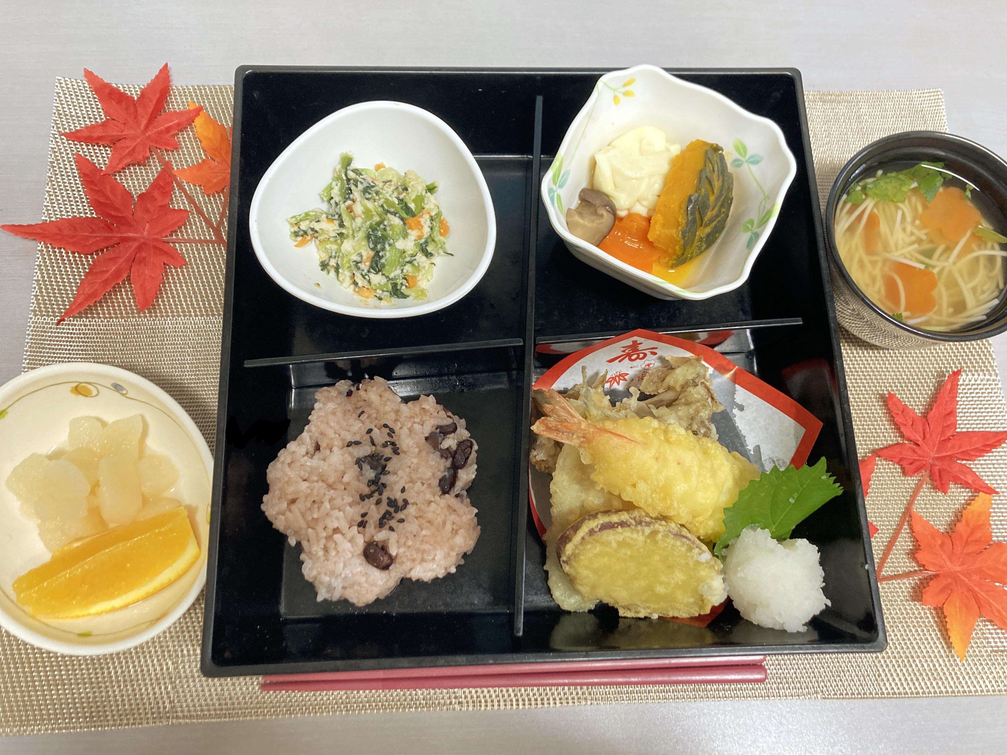 敬老の日行事食